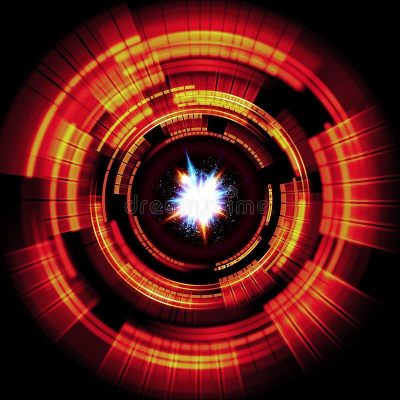 Illustrazione atomica della particella 3D illustrazione di stock