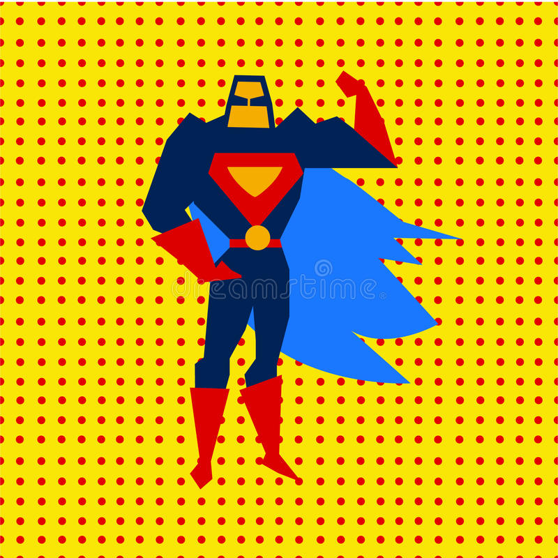 Illustrazione atterrata di vettore del superman illustrazione vettoriale