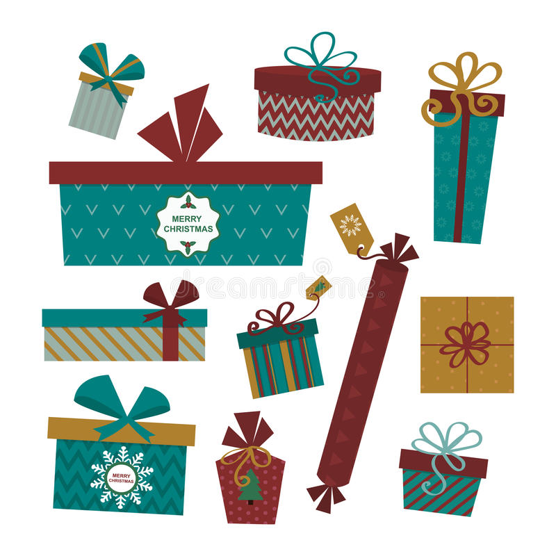 Illustrazione attuale isolata di vettore del contenitore di regalo royalty illustrazione gratis