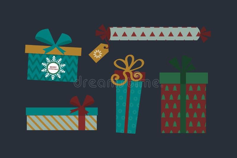 Illustrazione attuale isolata di vettore del contenitore di regalo illustrazione di stock