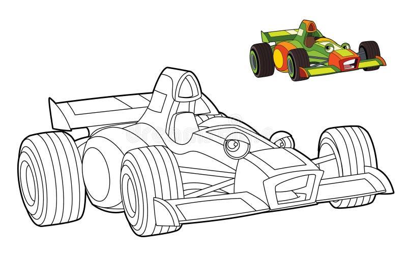 Illustrazione automobilistica colorata per i bambini royalty illustrazione gratis