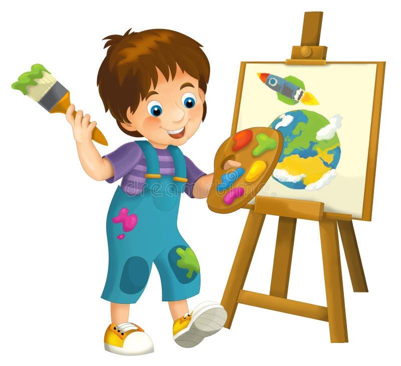 Illustrazione bambina del fumetto per i bambini illustrazione di stock