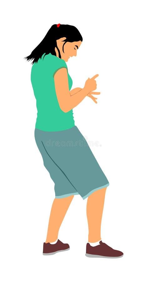 Illustrazione bella della ragazza del ballerino del partito Ballare del partito di vita notturna Evento del club della discoteca  royalty illustrazione gratis