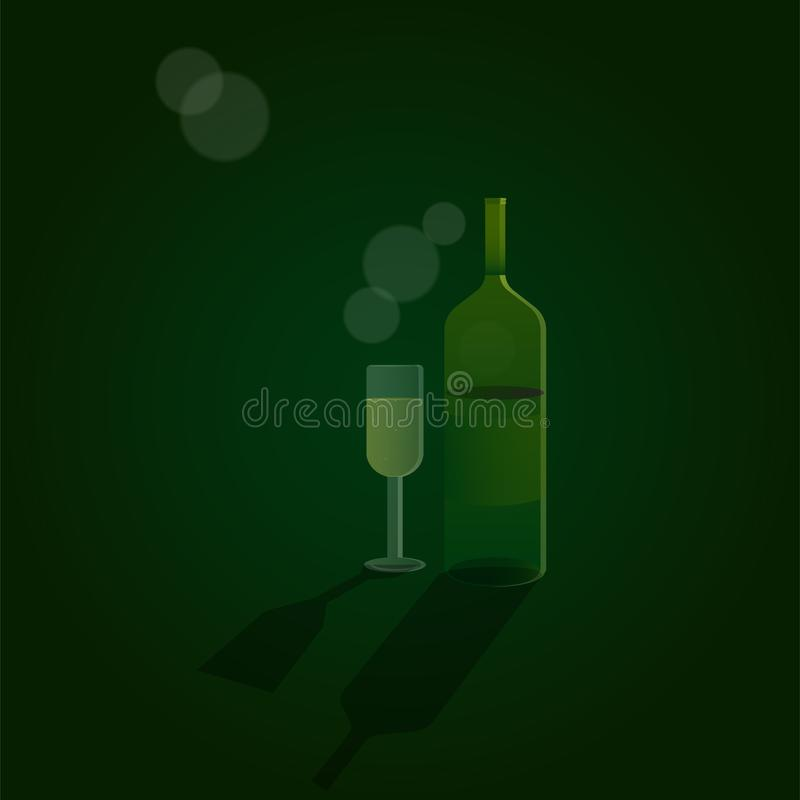 Illustrazione bevente eps10 di vettore del vetro da bottiglia Celebrate illustrazione vettoriale