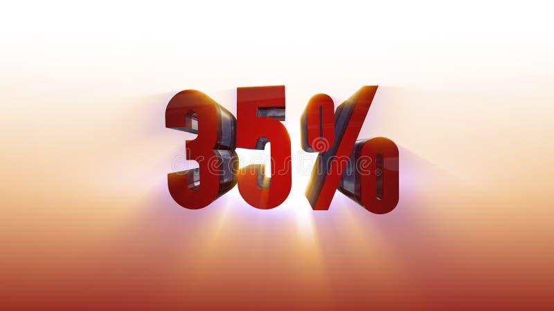 illustrazione bianca del fondo 3d di 35% illustrazione vettoriale