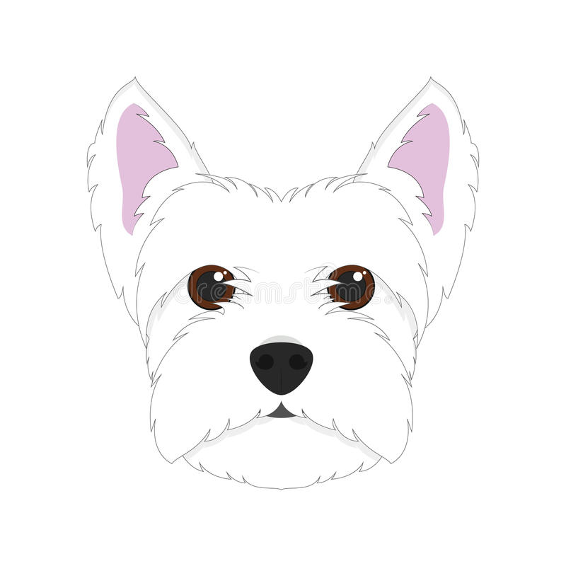 Illustrazione bianca di vettore del cane di West Highland Terrier royalty illustrazione gratis