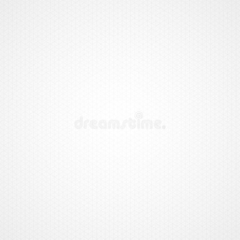 Fondo bianco della carta millimetrata del triangolo royalty illustrazione gratis