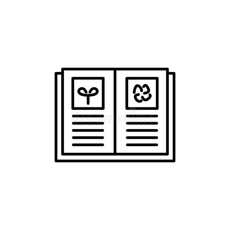 Illustrazione bianca e nera di vettore del libro del giardino con il illustrati illustrazione di stock