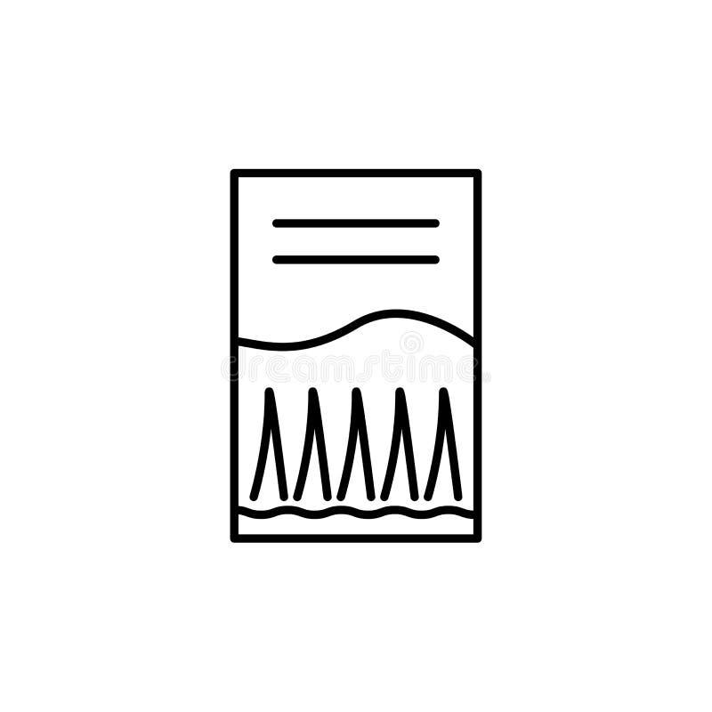 Illustrazione bianca e nera di vettore del pacchetto del seme dell'erba Linea ico illustrazione di stock