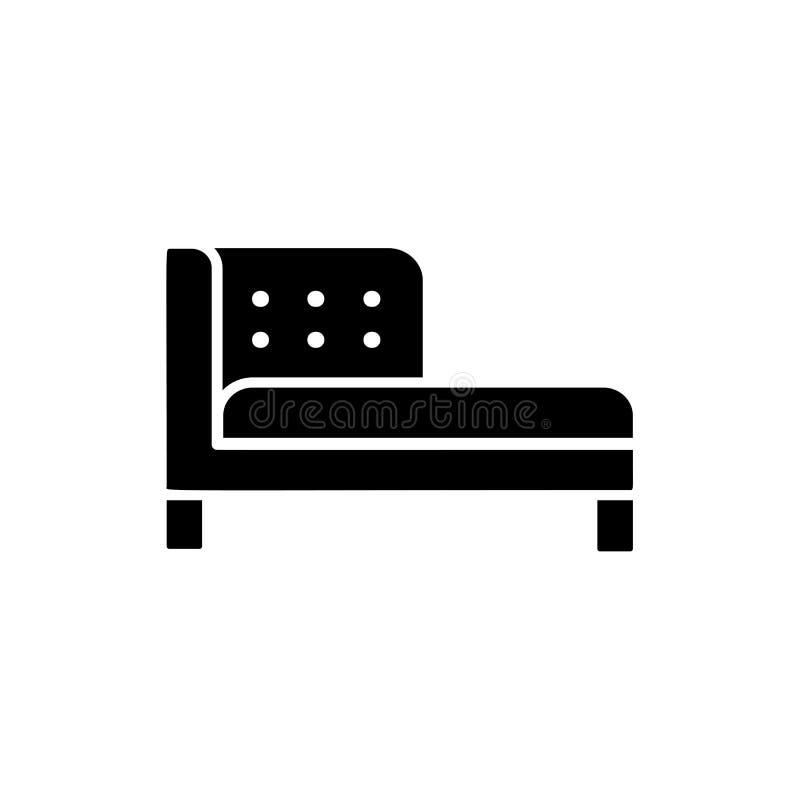 Illustrazione bianca e nera di vettore del sofà delle chaise longue CI piano royalty illustrazione gratis