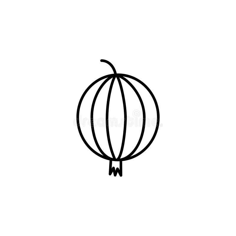 Illustrazione bianca e nera di vettore dell'uva spina Linea icona di franco royalty illustrazione gratis