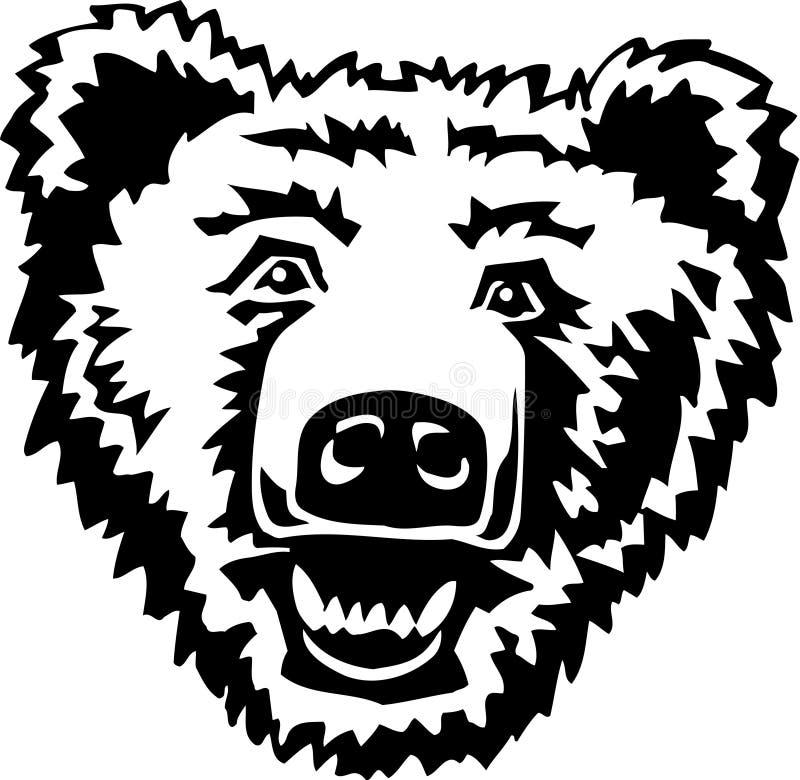 Illustrazione in bianco e nero dell'orso illustrazione vettoriale