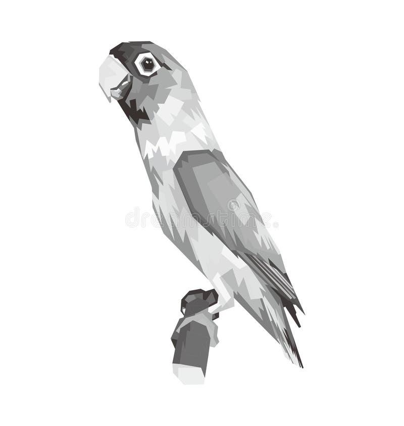 illustrazione in bianco e nero di piccioncino illustrazione di stock