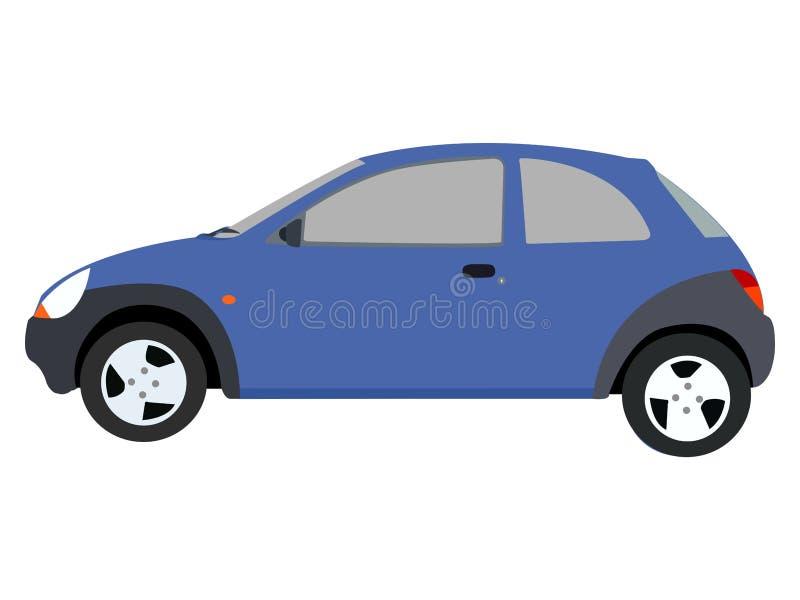 Illustrazione blu dell'automobile royalty illustrazione gratis