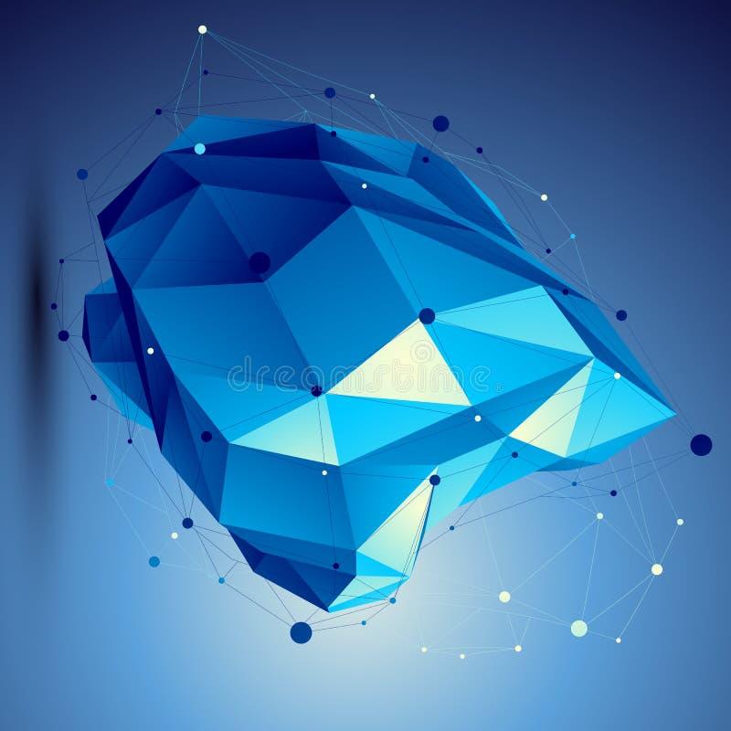 Illustrazione blu di tecnologia dell'estratto di vettore 3D royalty illustrazione gratis