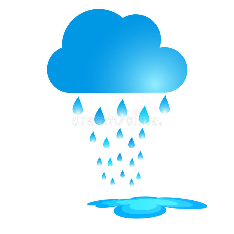 Illustrazione blu di vettore della nuvola di pioggia illustrazione vettoriale