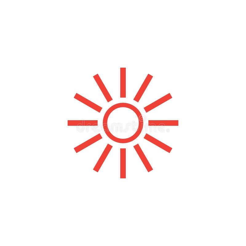 Illustrazione calda del modello di progettazione grafica dell'icona di Sun illustrazione vettoriale