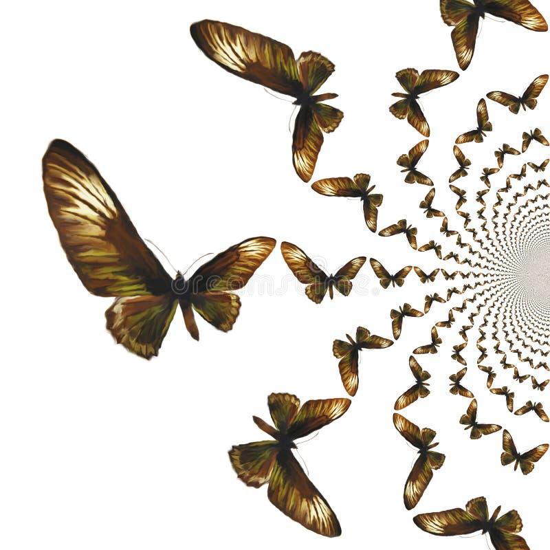 Illustrazione caleidoscopica delle farfalle illustrazione vettoriale