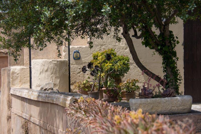 Illustrazione Capdepera della cittadina di Mallorca - di Maiorca fotografie stock