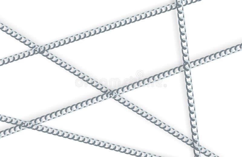 Illustrazione a catena di vettore del fondo dell'oro dell'estratto illustrazione vettoriale
