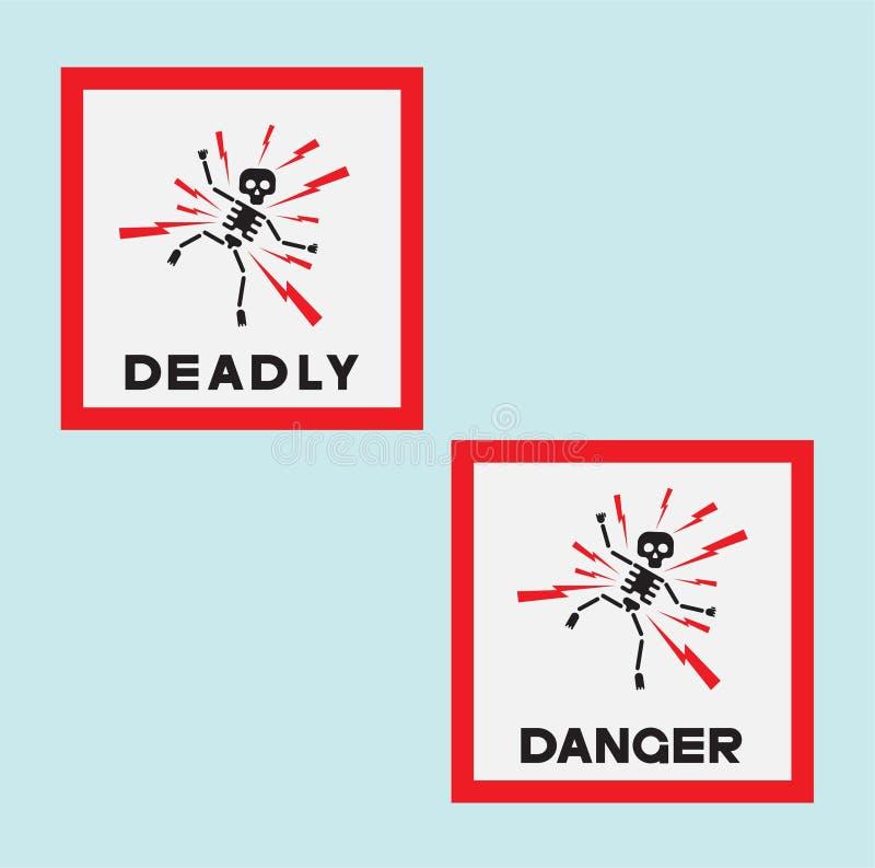 illustrazione che consiste di parecchi segnali di pericolo fotografie stock libere da diritti