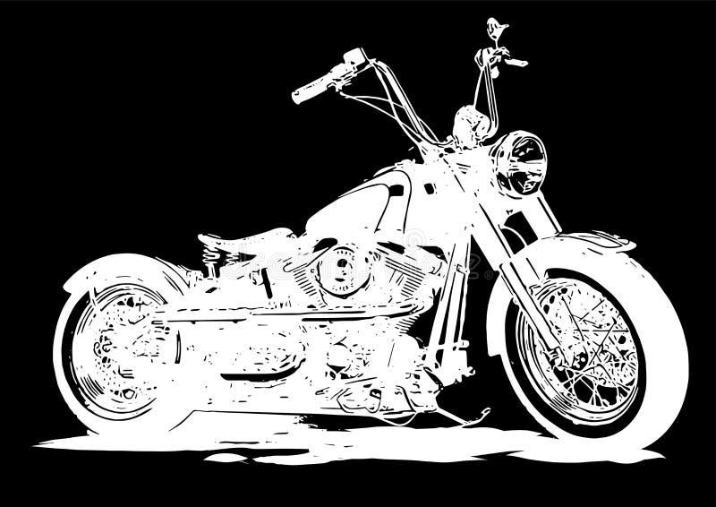 Illustrazione Chopper Motorcycle Poster d'annata di vettore con helme illustrazione vettoriale
