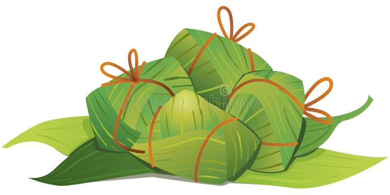 Illustrazione cinese degli gnocchi del riso royalty illustrazione gratis