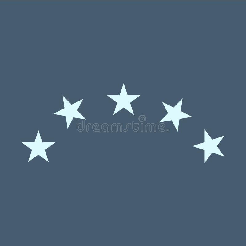 illustrazione cinque stelle eps10 di vettore dell'icona Distintivo isolato per websit illustrazione vettoriale