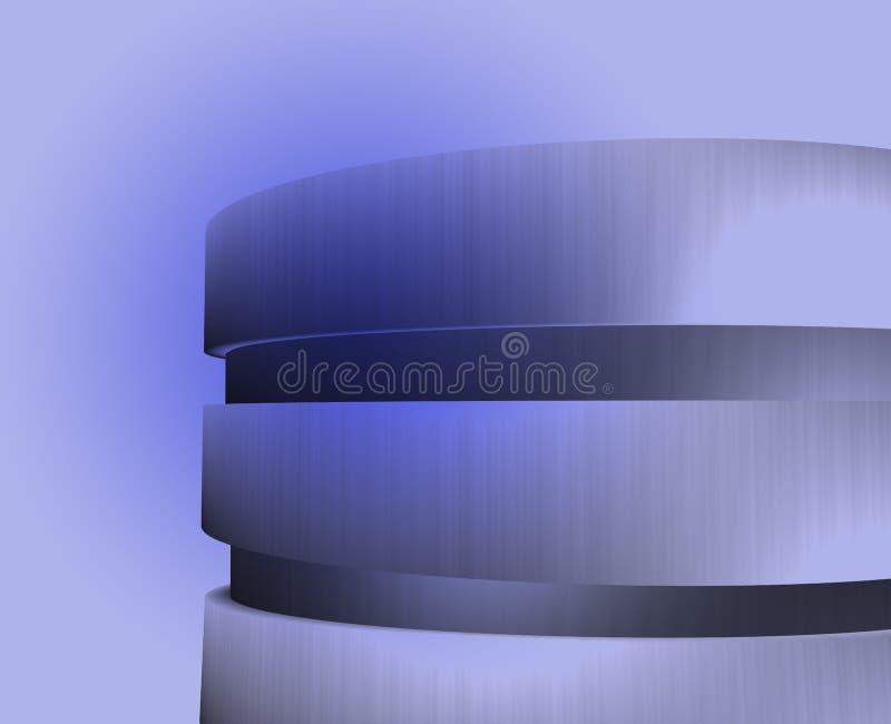 Illustrazione circolare blu della costruzione royalty illustrazione gratis