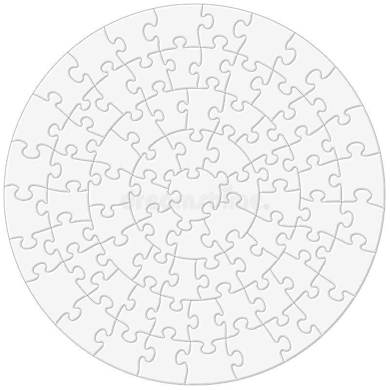Illustrazione circolare di vettore del puzzle illustrazione vettoriale
