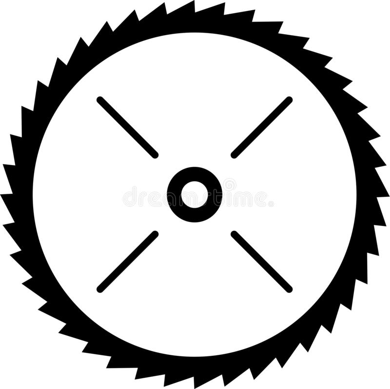 Illustrazione circolare di vettore della lama della sega elettrica illustrazione di stock