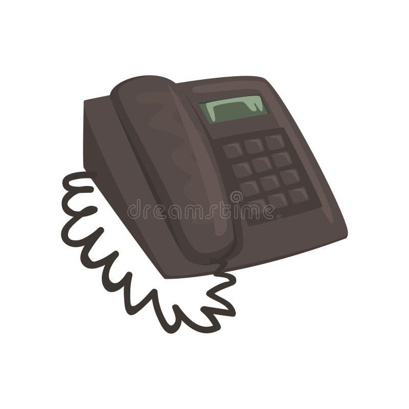 Illustrazione classica di vettore del fumetto del telefono dell'ufficio royalty illustrazione gratis