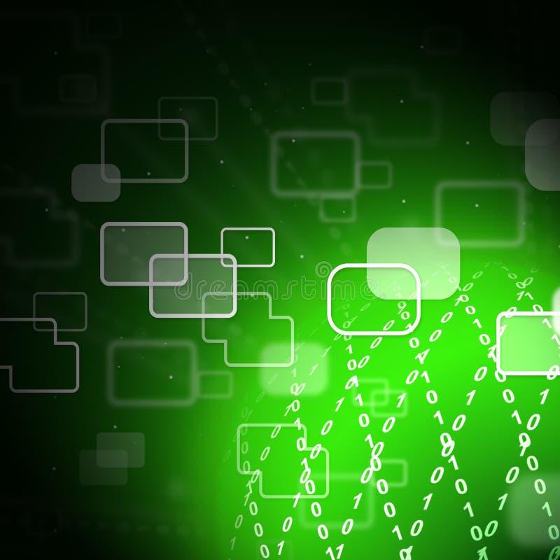 Illustrazione collegata di collegamento di tecnologia del mondo del globo 2d illustrazione di stock