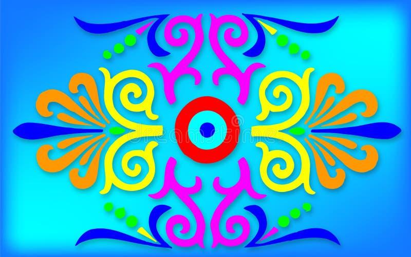 Illustrazione colorata dell'estratto fotografie stock libere da diritti