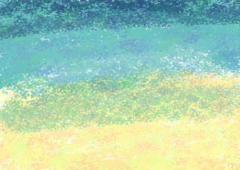 Illustrazione colorata dell'estratto La spazzola segna il fondo illustrazione vettoriale