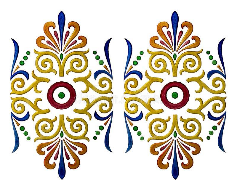 Illustrazione colorata di Firenze immagine stock