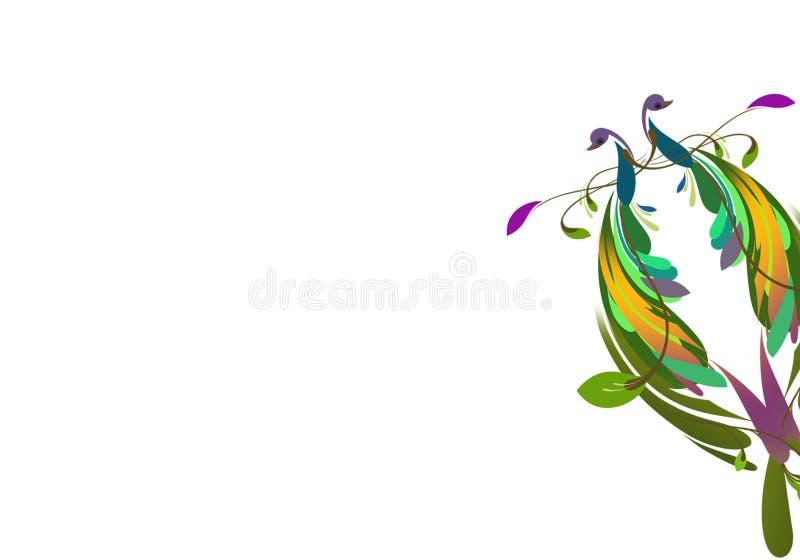 Illustrazione Colourful dei pavoni immagini stock