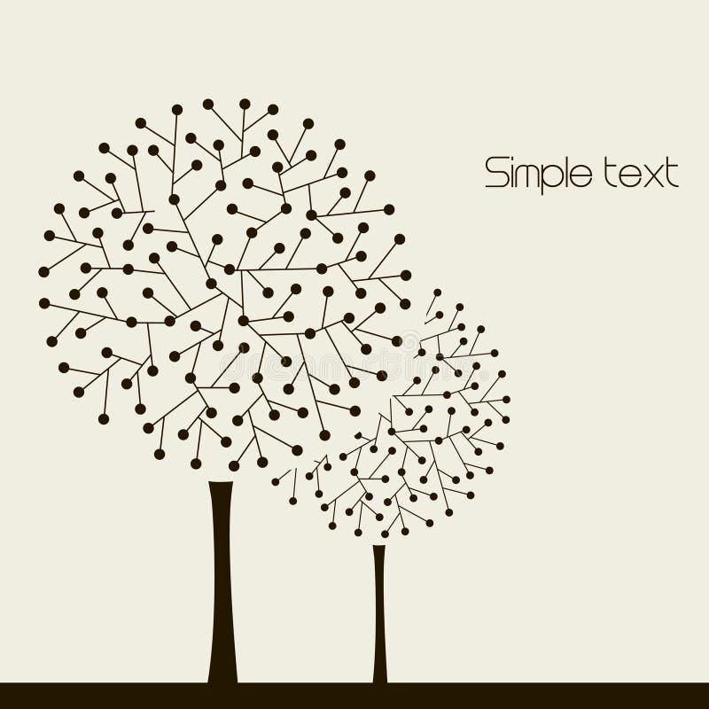 Illustrazione con gli alberi. Vettore illustrazione vettoriale