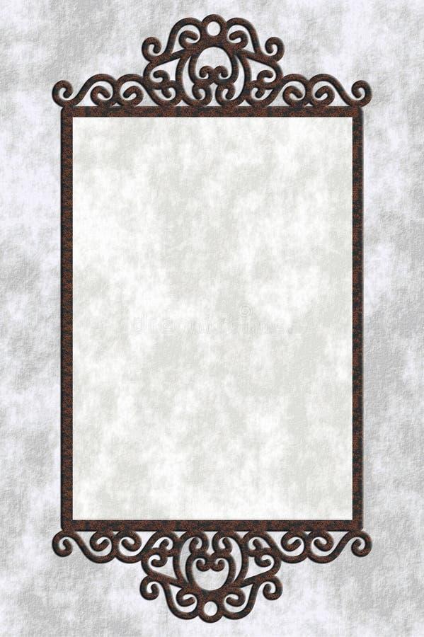 Illustrazione con il blocco per grafici del ferro fotografia stock