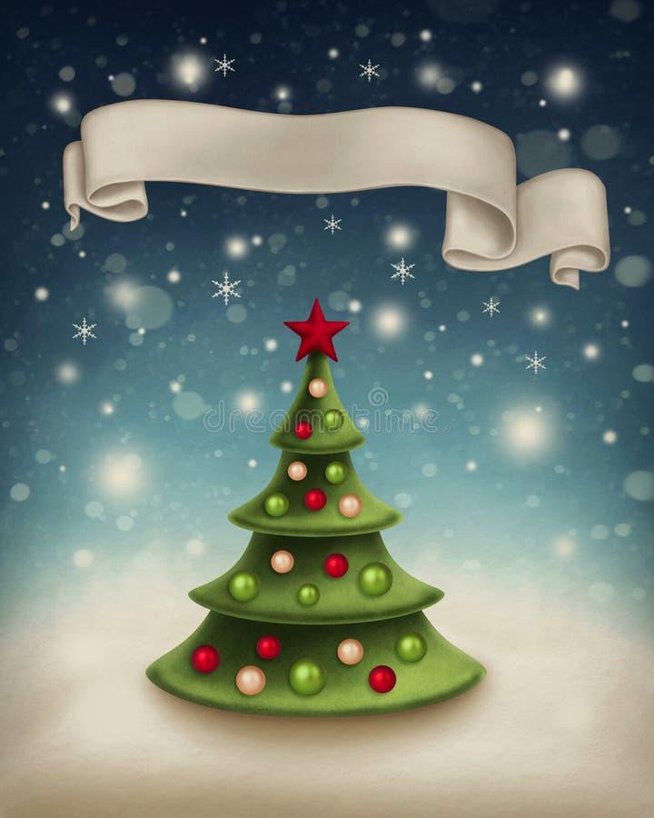 Illustrazione con l'albero di Natale royalty illustrazione gratis