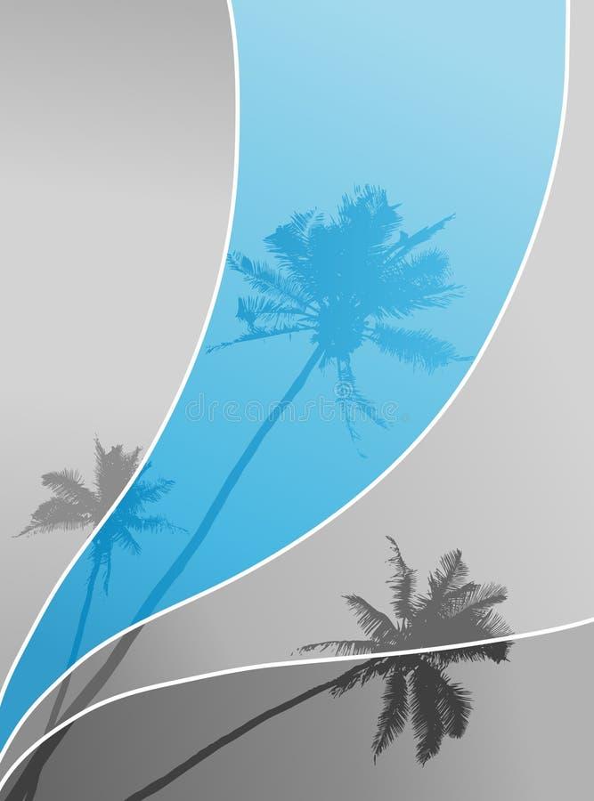Illustrazione con le palme. illustrazione vettoriale