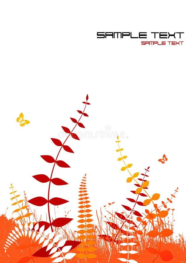 Illustrazione con le piante. Vettore illustrazione di stock