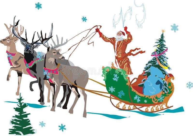 Illustrazione con Santa royalty illustrazione gratis