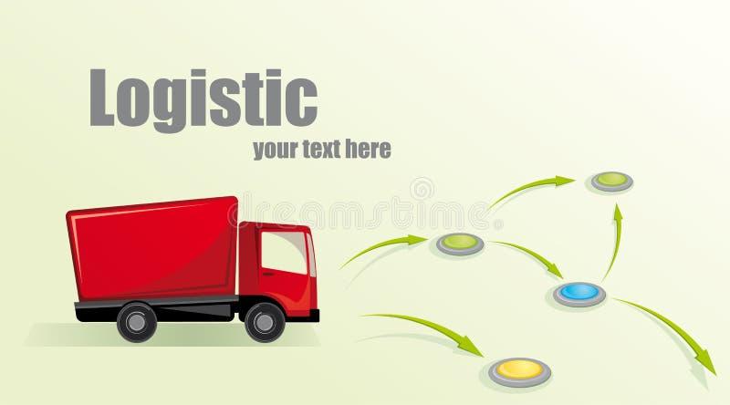 Illustrazione con un camion. illustrazione di stock