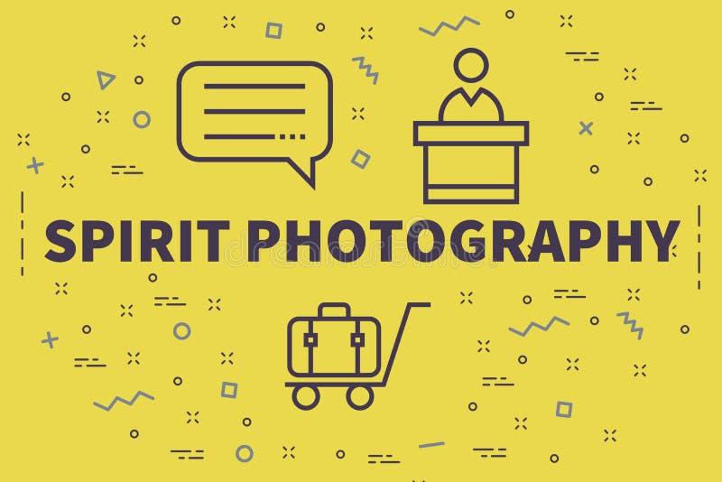 Illustrazione concettuale di affari con il photograp di spirito di parole royalty illustrazione gratis