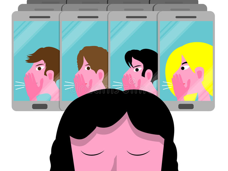 Illustrazione concettuale di vettore di cyberbullismo illustrazione vettoriale
