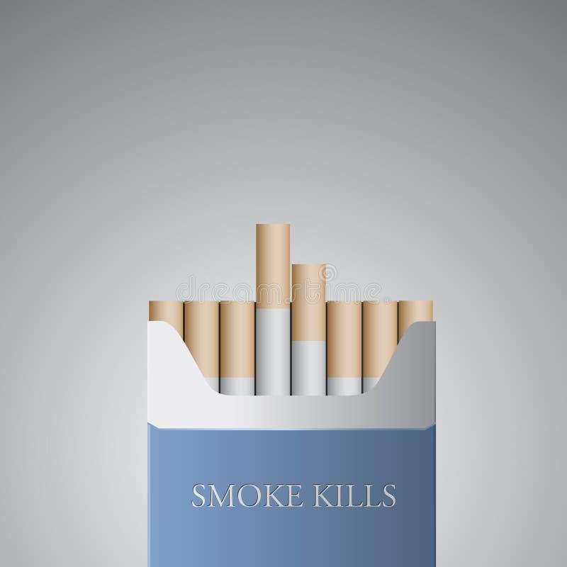 Illustrazione contro il fumo di vettore illustrazione vettoriale