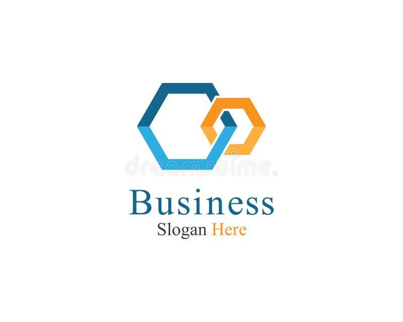 Illustrazione corporativa dell'icona di vettore del modello di logo illustrazione di stock