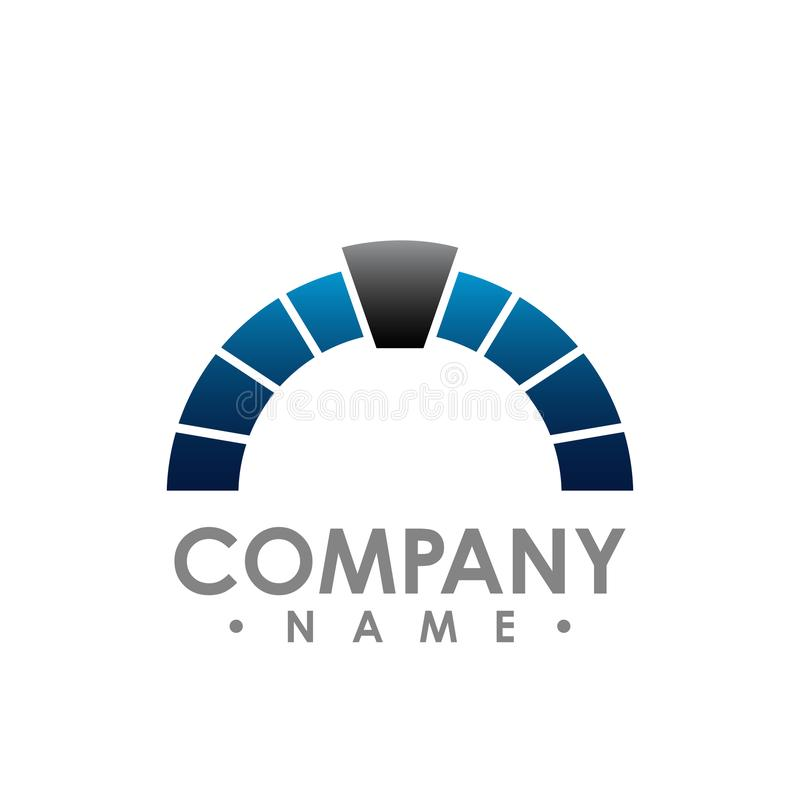 Illustrazione corporativa G di vettore di simbolo dell'estratto di logo del semicerchio illustrazione vettoriale