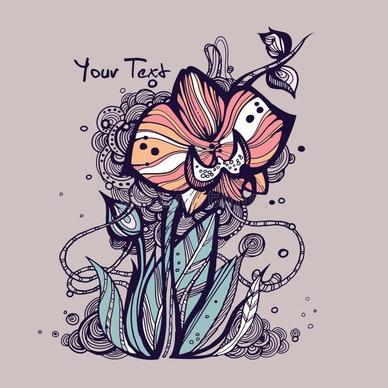Illustrazione creativa dell'orchidea illustrazione vettoriale